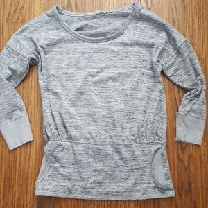 Athleta Batwing & Robin Gray Sweatshirt Top S